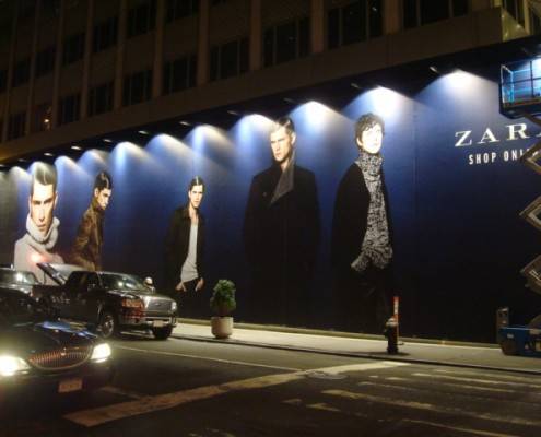 Zara building wrap