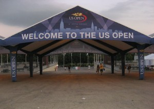 Welcome To The US Open tent banner