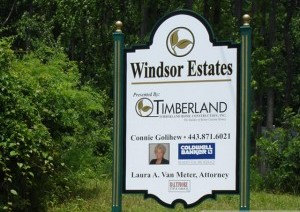 Windsor Estates sign substrate printing