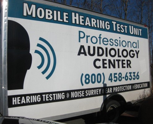 Mobile Hearing Test Unit truck banner