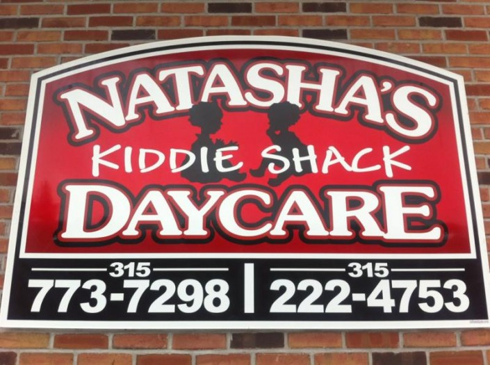 Natasha's Kiddie Shack Daycare sign
