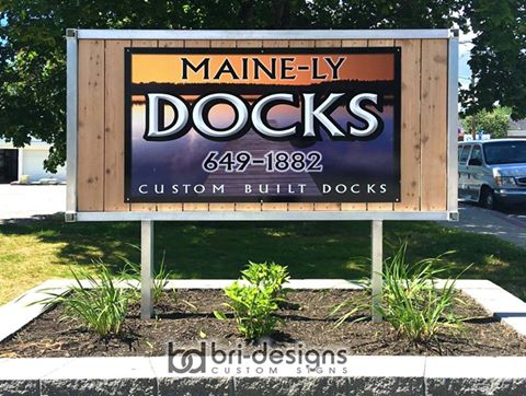 maine-ly dock sign